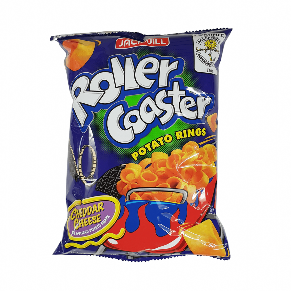 Jack'n Jill Roller Coaster Potato Rings Cheddar Cheese Flavoured 85g